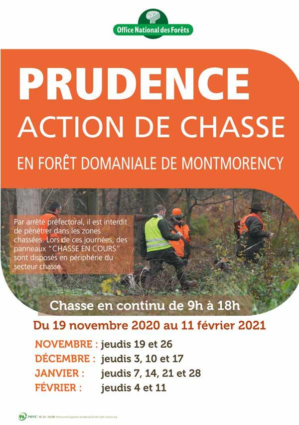 Dates de chasse en forêt de Montmorency